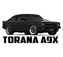 Holden Torana - A9X Hatchback - Black Photographic Print