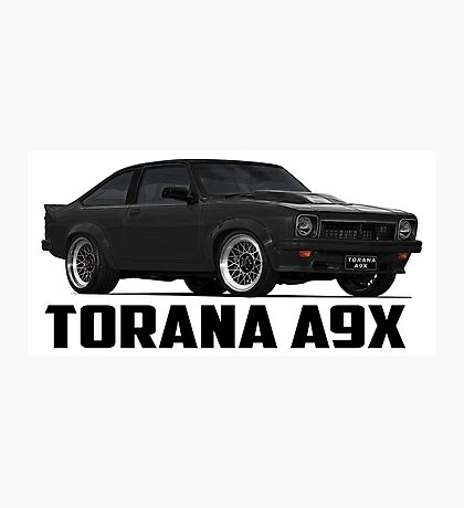 Holden Torana - A9X Hatchback - Black Photographic Print