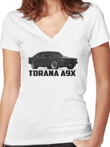 Holden Torana - A9X Hatchback - Black Women's Fitted V-Neck T-Shirt