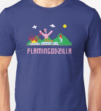 Flamingodzilla Pixel Unisex T-Shirt