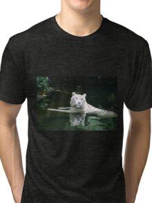 White Tiger. Tri-blend T-Shirt