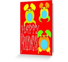 HAPPY HOLIDAYS 8 Greeting Card