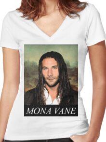 Mona Vane Women's Fitted V-Neck T-Shirt