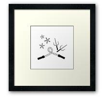 ninja weapon Framed Print