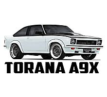 Holden Torana - A9X Hatchback - White Photographic Print