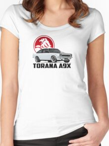 Holden Torana - A9X Hatchback - White 2 Women's Fitted Scoop T-Shirt