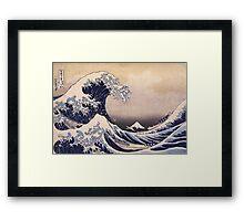 Katsushika Hokusai - The Great Wave Off the Coast of Kanagawa 19th century . Japanese Seascape Framed Print