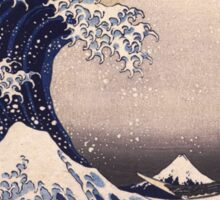 Katsushika Hokusai - The Great Wave Off the Coast of Kanagawa 19th century . Japanese Seascape Sticker