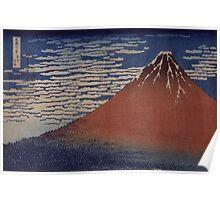 Katsushika Hokusai - Thirty-six Views of Mt. Fuji - Fine Wind, Clear Morning 19c Poster