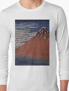 Katsushika Hokusai - Japanese Landscape . Rock Long Sleeve T-Shirt