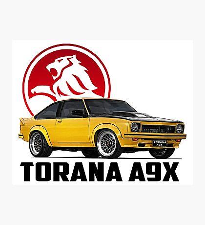 Holden Torana - A9X Hatchback - Yellow 2 Photographic Print