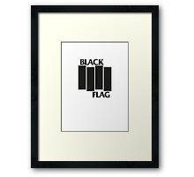 BLACK FLAG on WHITE Framed Print