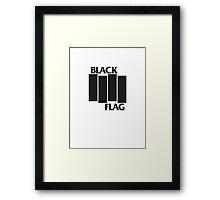 BLACK FLAG on WHITE Framed Print