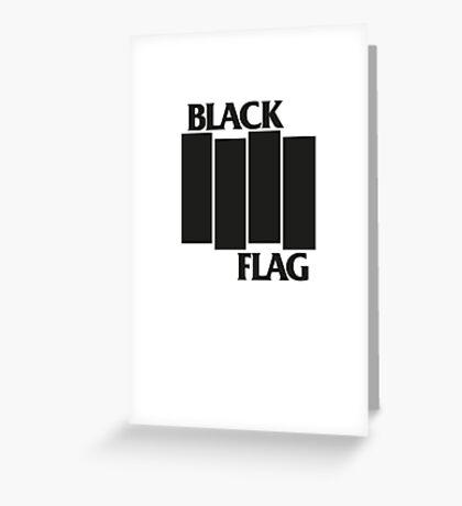 BLACK FLAG on WHITE Greeting Card
