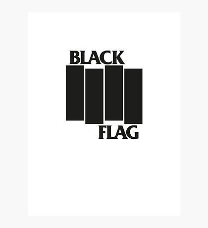BLACK FLAG on WHITE Photographic Print