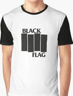BLACK FLAG on WHITE Graphic T-Shirt