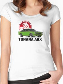 Holden Torana - A9X Hatchback -  Green 2 Women's Fitted Scoop T-Shirt