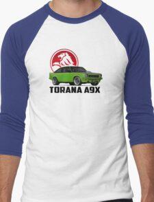 Holden Torana - A9X Hatchback -  Green 2 Men's Baseball ¾ T-Shirt