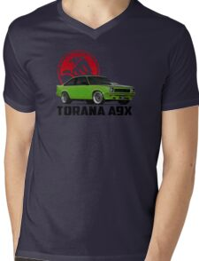 Holden Torana - A9X Hatchback -  Green 2 Mens V-Neck T-Shirt