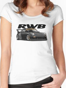 RWB (black) Women's Fitted Scoop T-Shirt
