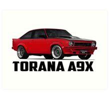 Holden Torana - A9X Hatchback - Red Art Print