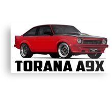 Holden Torana - A9X Hatchback - Red Metal Print