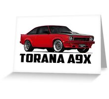 Holden Torana - A9X Hatchback - Red Greeting Card