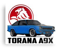 Holden Torana - A9X Hatchback - Blue 2 Metal Print