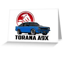Holden Torana - A9X Hatchback - Blue 2 Greeting Card