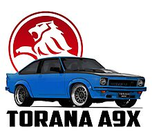 Holden Torana - A9X Hatchback - Blue 2 Photographic Print