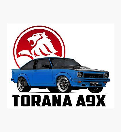 Holden Torana - A9X Hatchback - Blue 2 Photographic Print