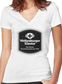 Weltenburger Kloster Women's Fitted V-Neck T-Shirt