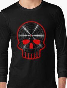 Vinyl Skull RED Long Sleeve T-Shirt