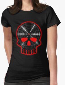 Vinyl Skull RED Womens Fitted T-Shirt