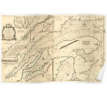 American Revolutionary War Era Maps 1750-1786 314 An exact chart of the river St Lawrence from Port Frontenac to the island of Anticosti shewing the soundings Poster