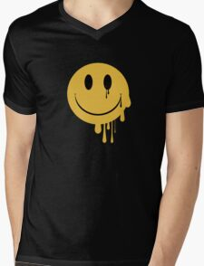 Smiley Mens V-Neck T-Shirt