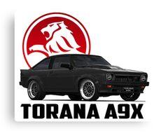 Holden Torana - A9X Hatchback - Black 2 Canvas Print