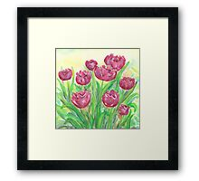 Garden in Spring Framed Print