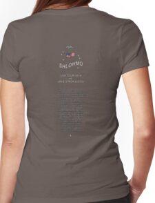 Shlohmo USA tour 2014 Womens Fitted T-Shirt