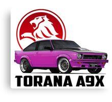 Holden Torana - A9X Hatchback - Pink 2 Canvas Print