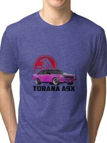 Holden Torana - A9X Hatchback - Pink 2 Tri-blend T-Shirt