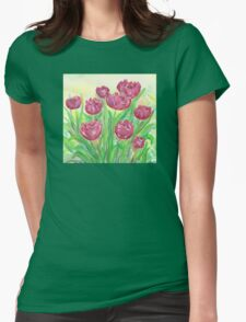 Garden in Spring Womens Fitted T-Shirt