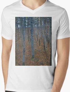 Klimt - Beech Grove . Gustav Klimt - Landscape . Austrian Trees Mens V-Neck T-Shirt