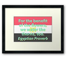 For The Benefit Of The Flowers - Egyptian Proverb Framed Print