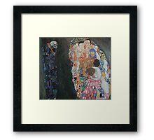 Klimt - Death and Life 1910-15 . Gustav Klimt . Life Framed Print