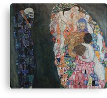 Klimt - Death and Life 1910-15 . Gustav Klimt . Life Canvas Print
