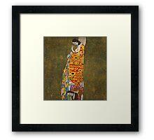 Klimt - Hope . Klimt , Woman  Framed Print