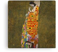 Klimt - Hope . Klimt , Woman  Canvas Print