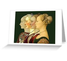 Souvenir from Italy - Pollaiolo's portraits Greeting Card