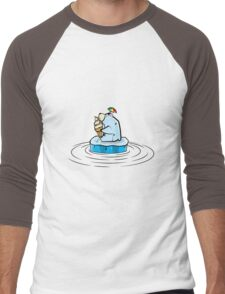 Summer Polar Bear : Melty Soft Serve Men's Baseball ¾ T-Shirt